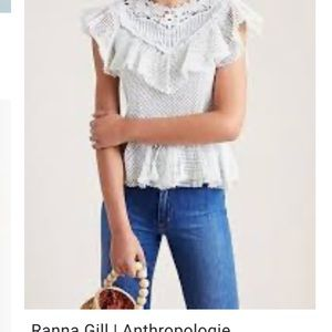 Ran a Gill for Anthropologie lace top